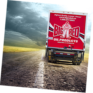 Big Red Oil Products Truck, Oil Distributor, engine oil, hydraulic, diesel, full synthetic oils, Toronto
